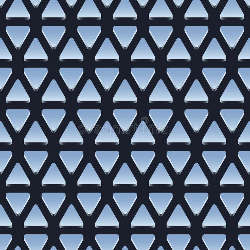 Modelo inconsútil de triángulos metálicos brillantes ilustración del vector