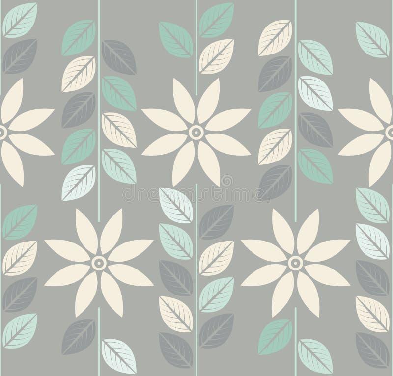 Modelo inconsútil decorativo con las flores elegantes de la manzanilla stock de ilustración