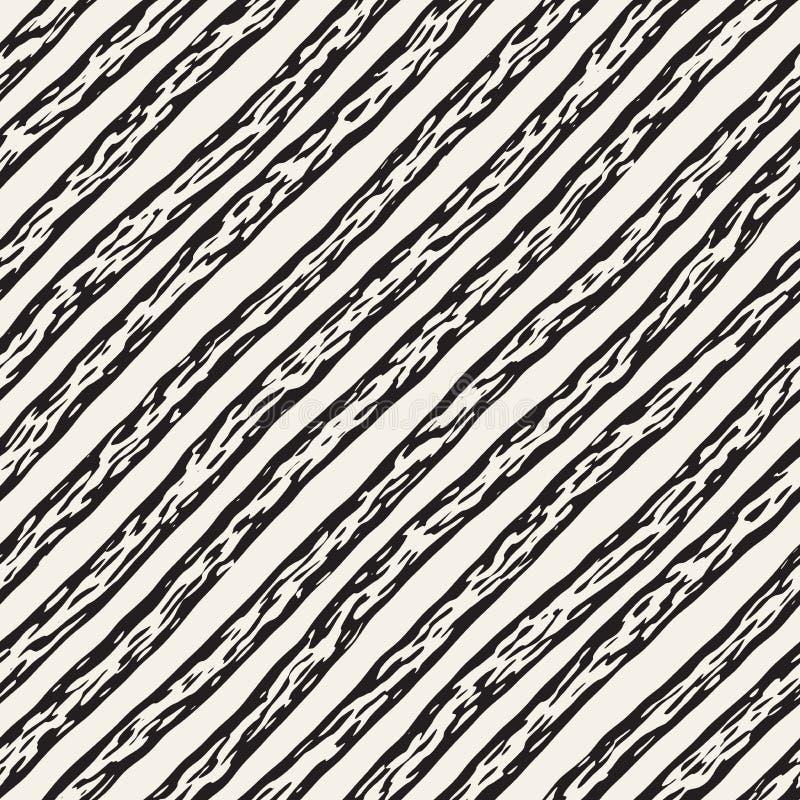 Modelo inconsútil decorativo con las líneas handdrawn del garabato Fondo ondulado pintado a mano de las rayas A pulso sin fin de  libre illustration
