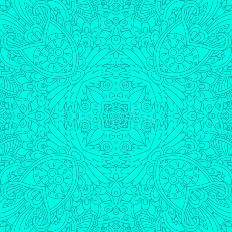 Modelo inconsútil decorativo de la turquesa ilustración del vector