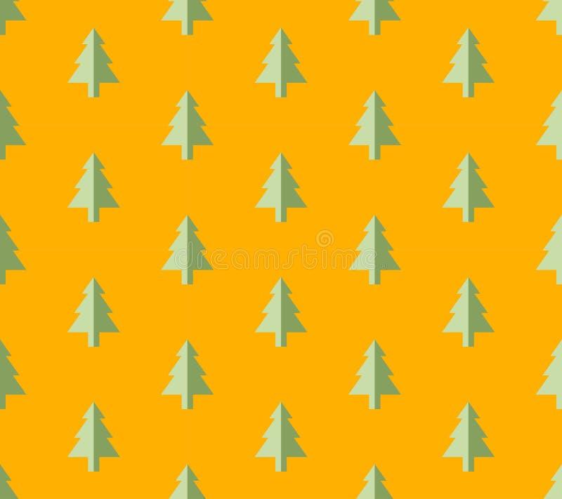 Modelo inconsútil del árbol de navidad para la tarjeta de felicitación del Año Nuevo/el fondo del papel pintado Ilustración del v ilustración del vector