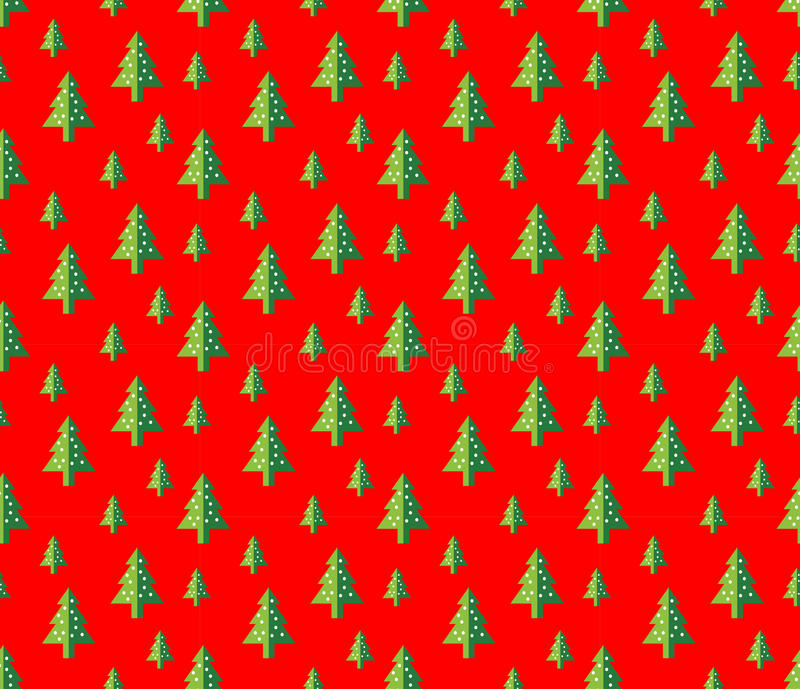 Modelo inconsútil del árbol de navidad para la tarjeta de felicitación del Año Nuevo/el fondo del papel pintado Ilustración del v stock de ilustración