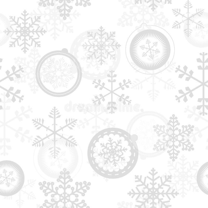 Modelo inconsútil del Año Nuevo de la Navidad del invierno ilustración del vector