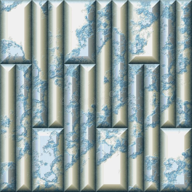 Modelo inconsútil del alivio del mosaico de tejas agrietadas rectangulares imagenes de archivo