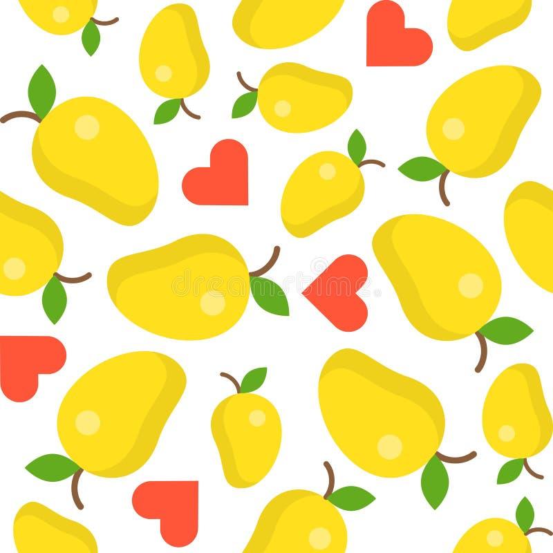 Modelo inconsútil del amante del mango para el papel pintado o el papel de embalaje stock de ilustración