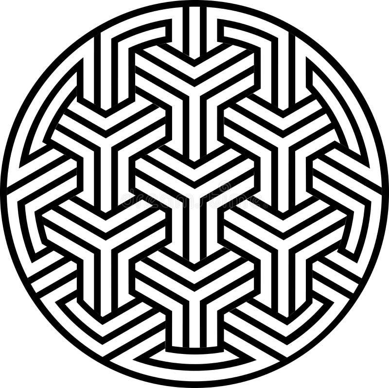 Modelo inconsútil del Arabesque ilustración del vector