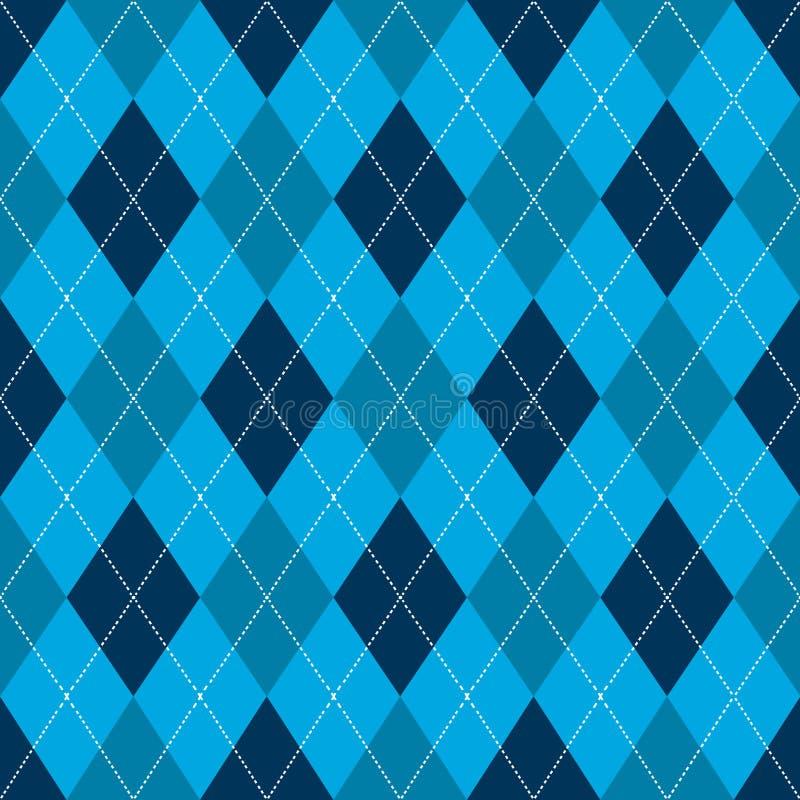 Modelo inconsútil del argyle Color azul retro Vector ilustración del vector