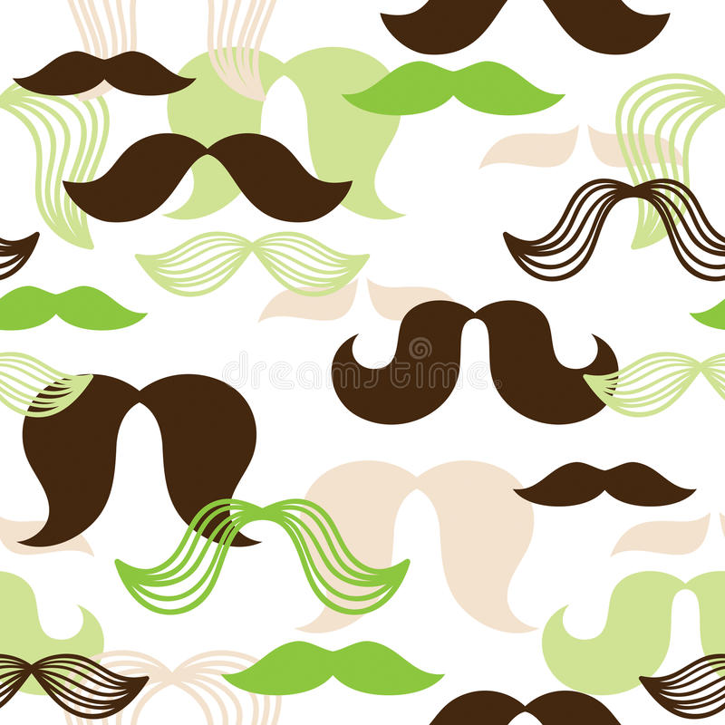 Modelo inconsútil del bigote stock de ilustración