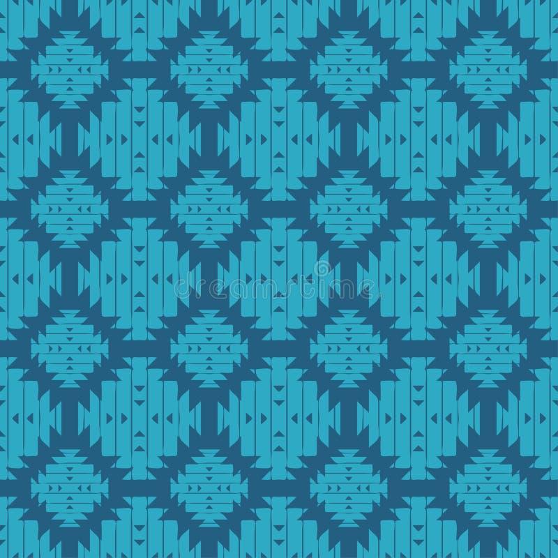 Modelo inconsútil del boho étnico brushwork Ornamento tradicional Fondo geométrico Modelo tribal Adorno popular stock de ilustración