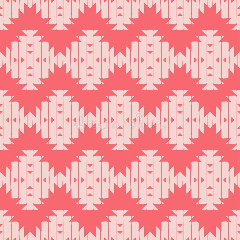 Modelo inconsútil del boho étnico brushwork Ornamento tradicional Fondo geométrico Modelo tribal Adorno popular libre illustration