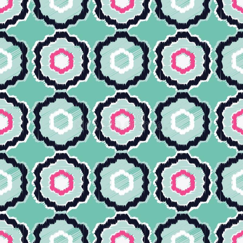 Modelo inconsútil del boho étnico Informe de la materia textil libre illustration