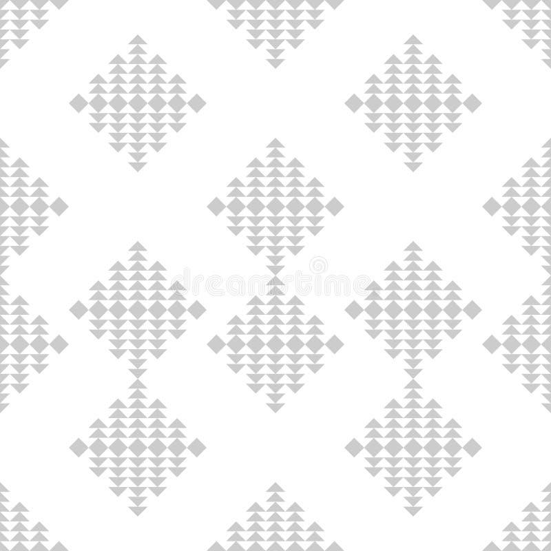 Modelo inconsútil del boho étnico Rectángulos compuestos de triángulos Ornamento tradicional Modelo tribal Adorno popular stock de ilustración