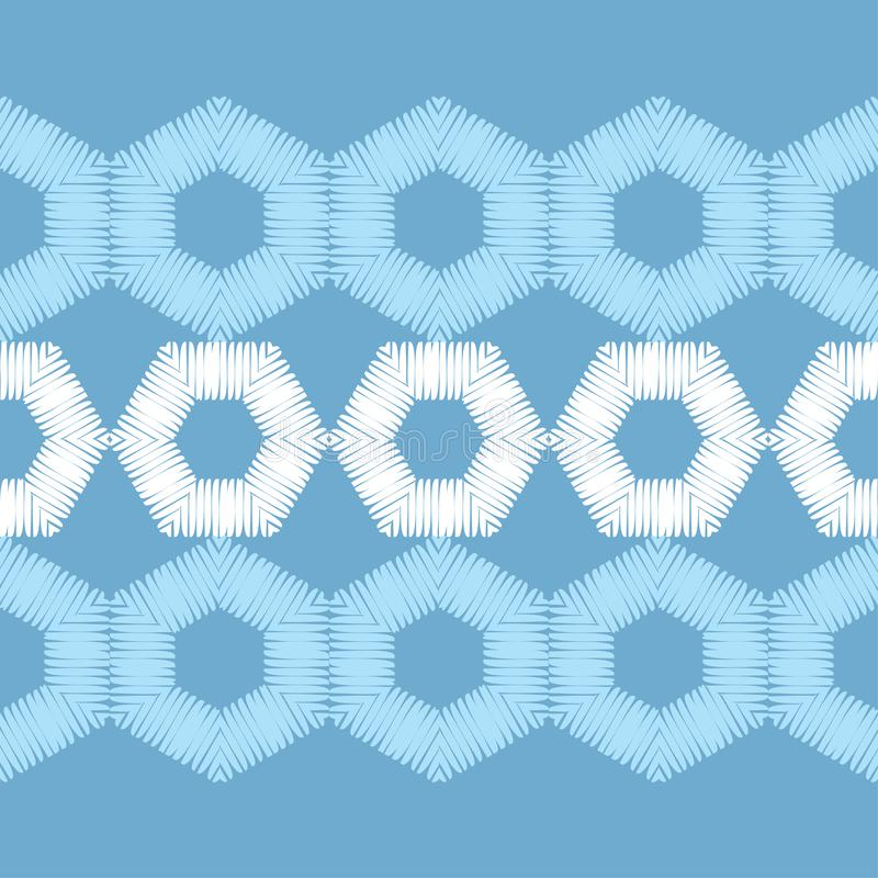Modelo inconsútil del boho étnico Un mosaico de hexágonos Textura del remiendo weaving Ornamento tradicional Modelo tribal Adorno libre illustration