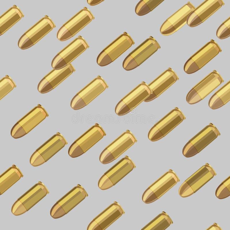 Modelo inconsútil del bombardeo de las balas ilustración del vector