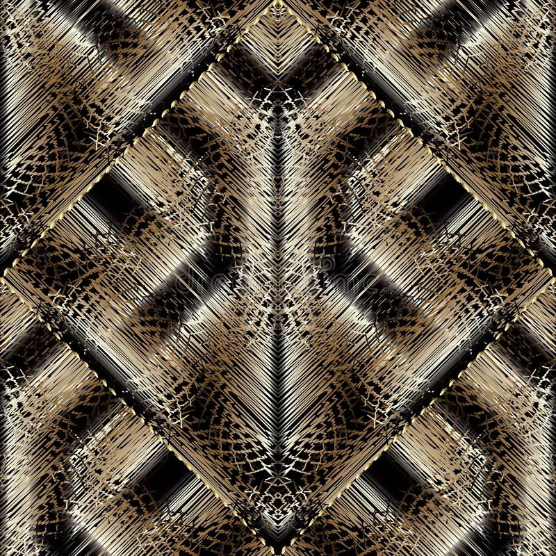 Modelo inconsútil del bordado moderno Tapicería o geométrico sin fin ilustración del vector