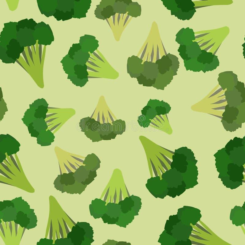 Modelo inconsútil del bróculi Broccoli verde von vegetable stock de ilustración