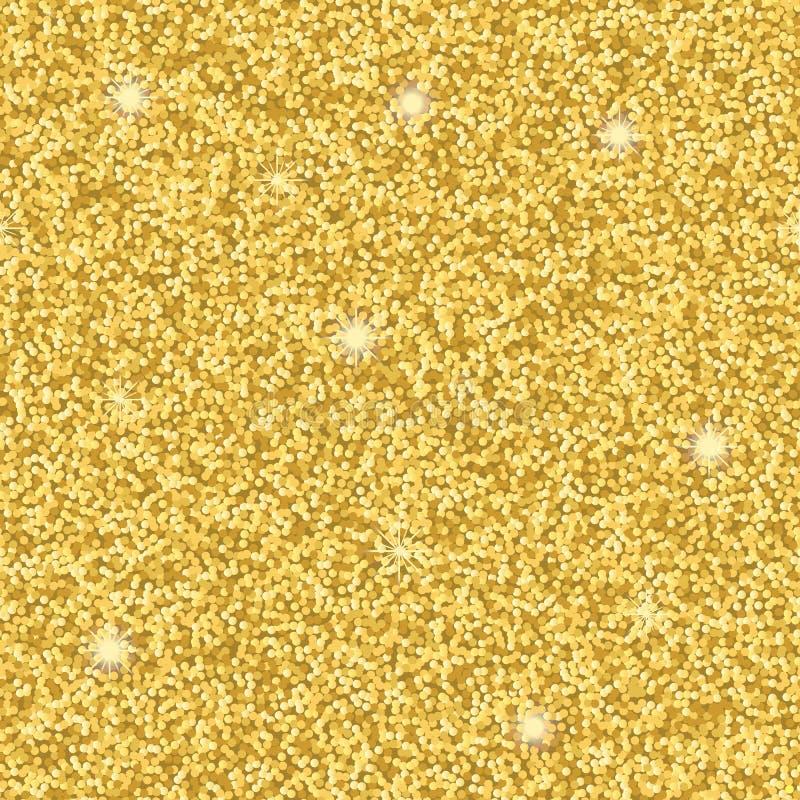 Modelo inconsútil del brillo del oro libre illustration