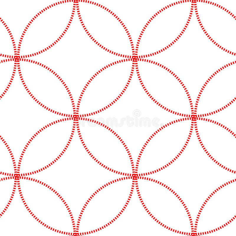 Modelo inconsútil del círculo geométrico abstracto Gráfico de la moda Diseño del japonés textura con estilo moderna Ilustración d stock de ilustración