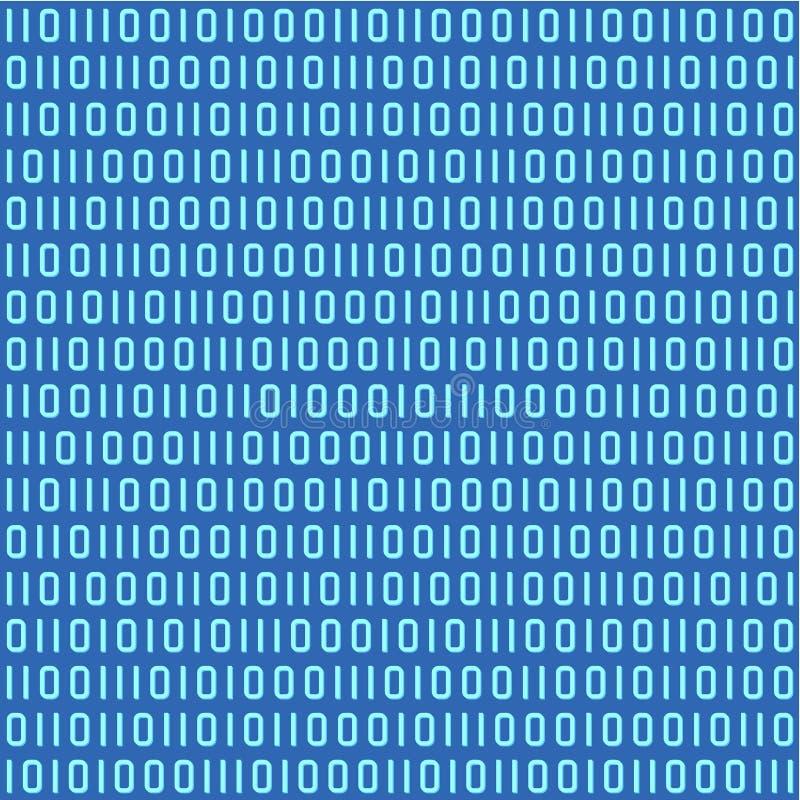 Modelo inconsútil del código binario libre illustration