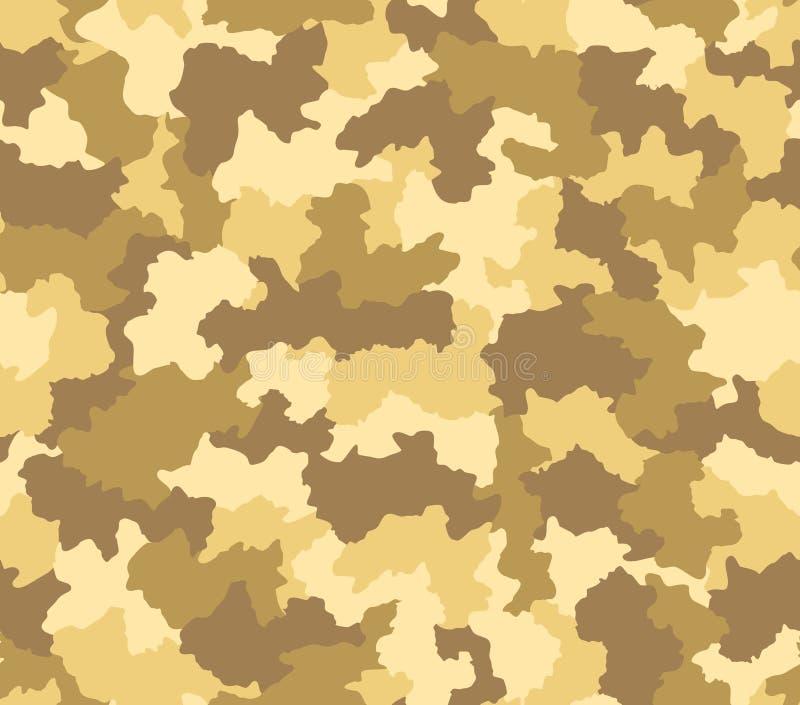 Modelo inconsútil del camuflaje del desierto ilustración del vector