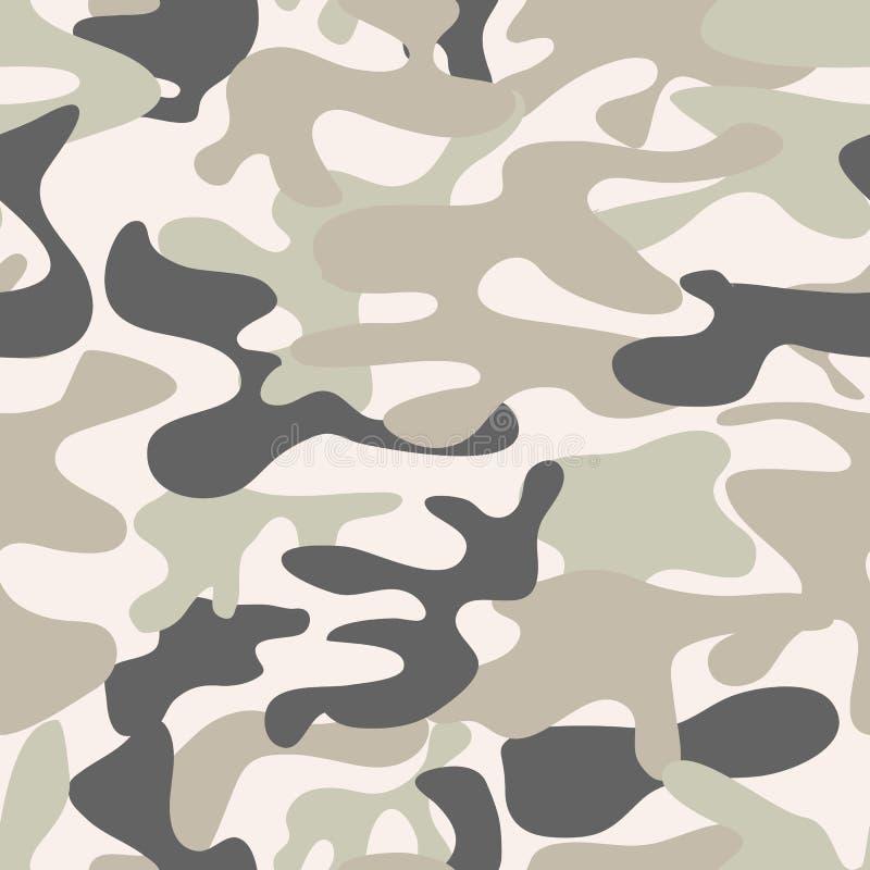 Modelo inconsútil del camuflaje Textura de color caqui, ejemplo del vector stock de ilustración