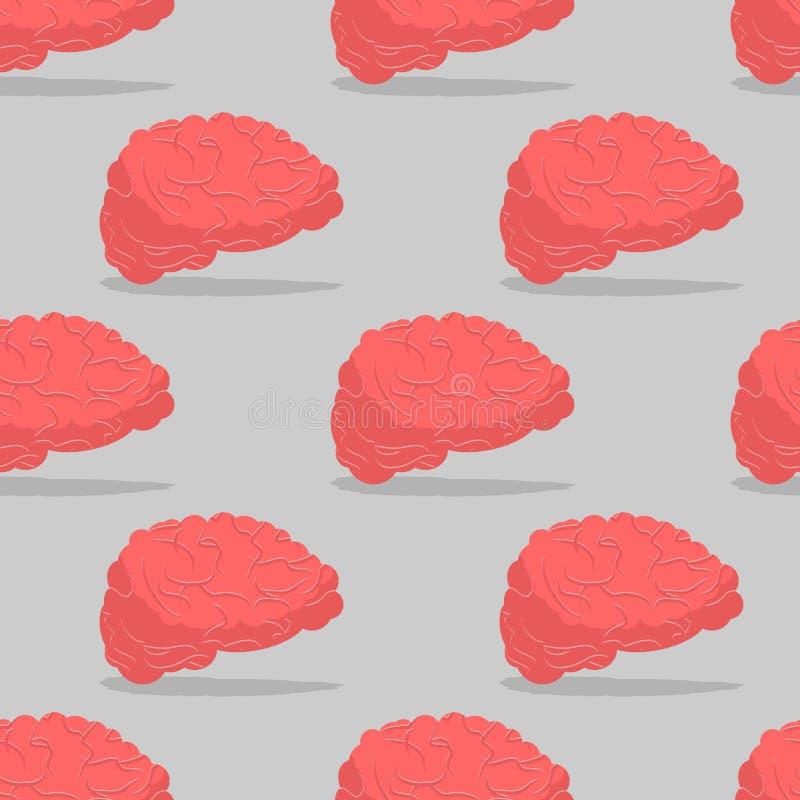 Modelo inconsútil del cerebro Órgano central del modelo del sistema nervioso ilustración del vector