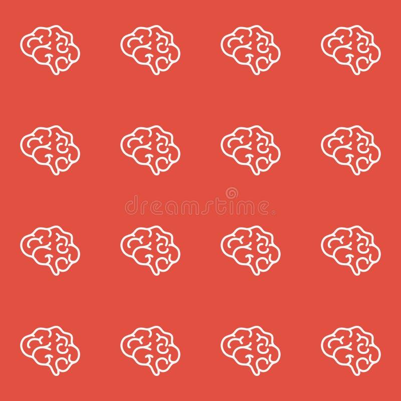 Modelo inconsútil del cerebro ilustración del vector