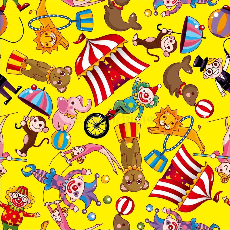 Modelo inconsútil del circo libre illustration