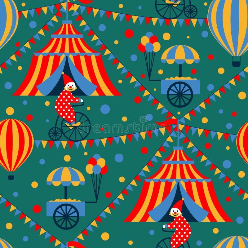 Modelo inconsútil del circo ilustración del vector