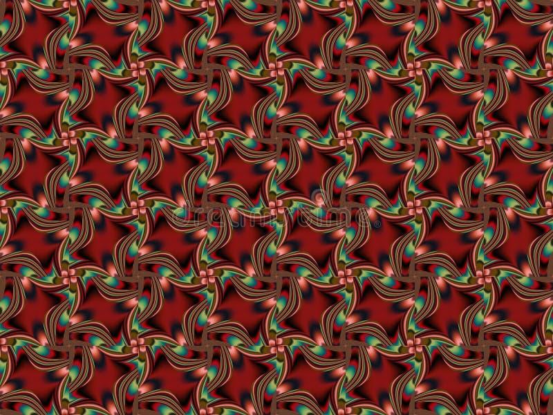 Modelo inconsútil del color Ornamento decorativo floral del vector ilustración del vector