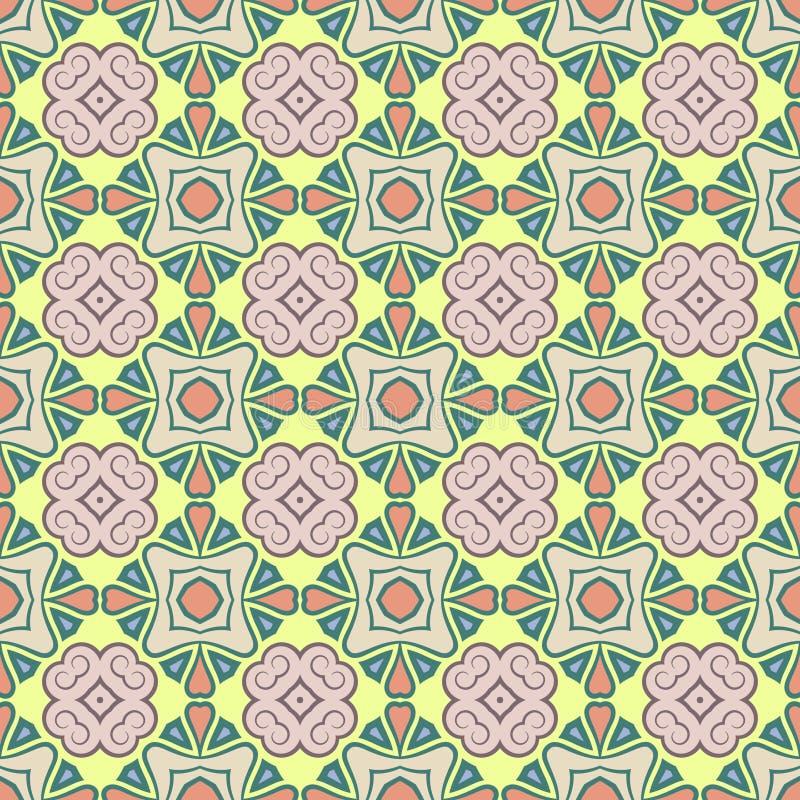 Modelo inconsútil del color del vector abstracto para el fondo stock de ilustración