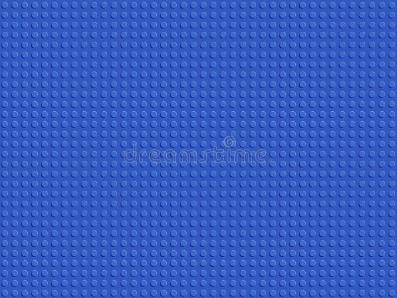 Modelo inconsútil del constructor plástico azul Los bloques abstractos del fondo platean diseño plano ilustración del vector
