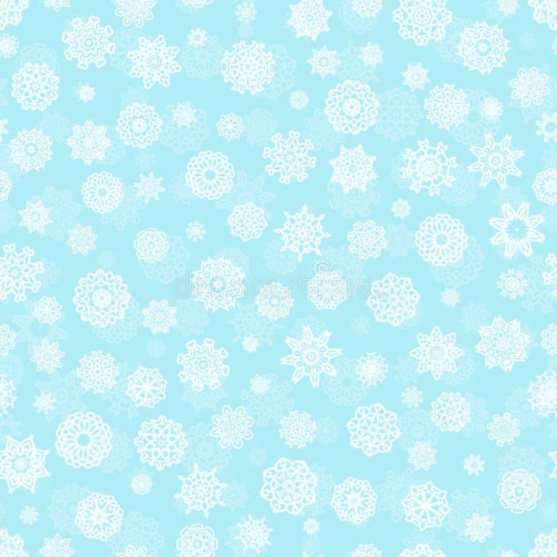 Modelo inconsútil del copo de nieve stock de ilustración