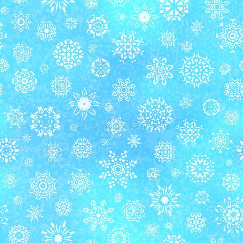 Modelo inconsútil del copo de nieve libre illustration
