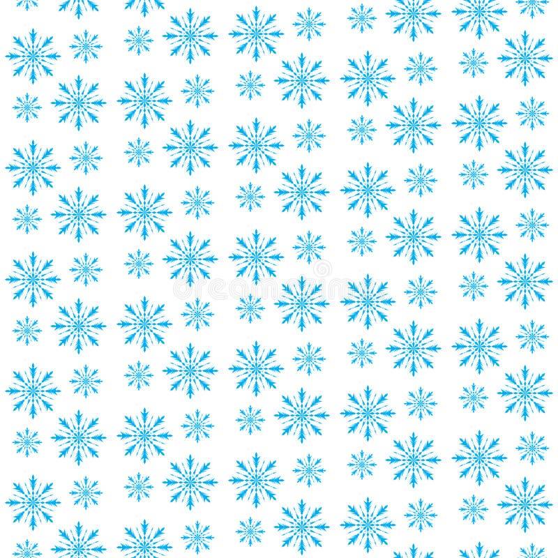 Modelo inconsútil del copo de nieve Fondo hermoso de la Navidad Invierno de la nieve, fondo de la Navidad, textura Fondo de la ca ilustración del vector