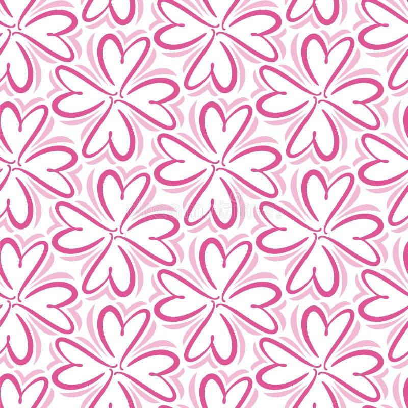 Modelo inconsútil del corazón abstracto retro Ejemplo del vector para el diseño romántico de la nostalgia Puede ser utilizado par stock de ilustración