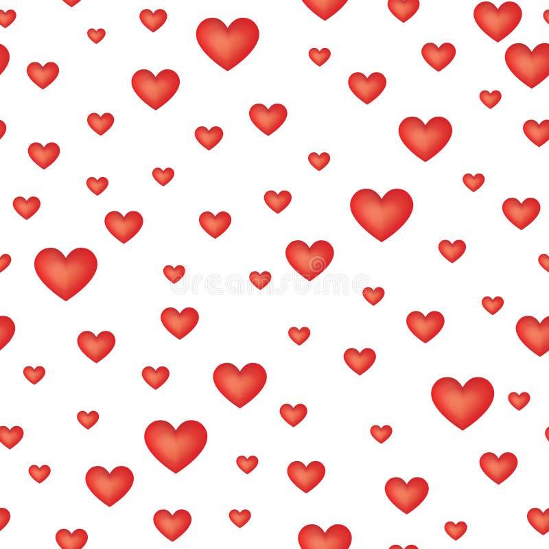 modelo inconsútil del corazón del amor ilustración del vector
