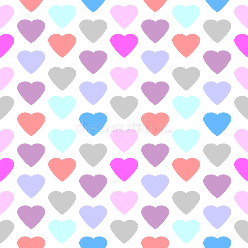 modelo inconsútil del corazón del amor libre illustration