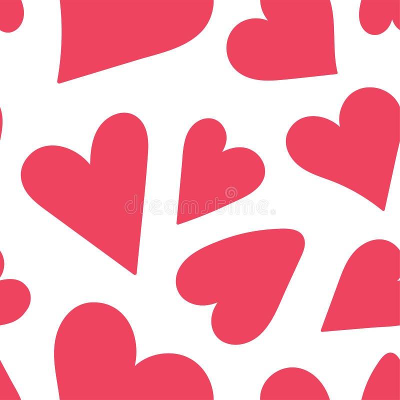 Modelo inconsútil del corazón Ilustración del amor del vector El día de tarjeta del día de San Valentín, el día de madre, boda, l ilustración del vector