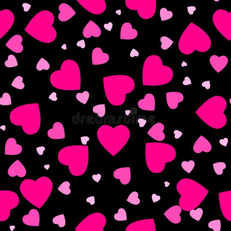 Modelo inconsútil del corazón Corazón rosado Diseño de empaquetado para el papier cadeau Fondo moderno geométrico abstracto Ilust ilustración del vector