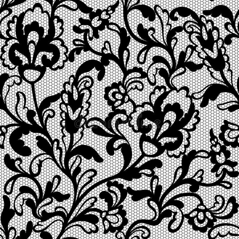 Modelo inconsútil del cordón de la flor stock de ilustración