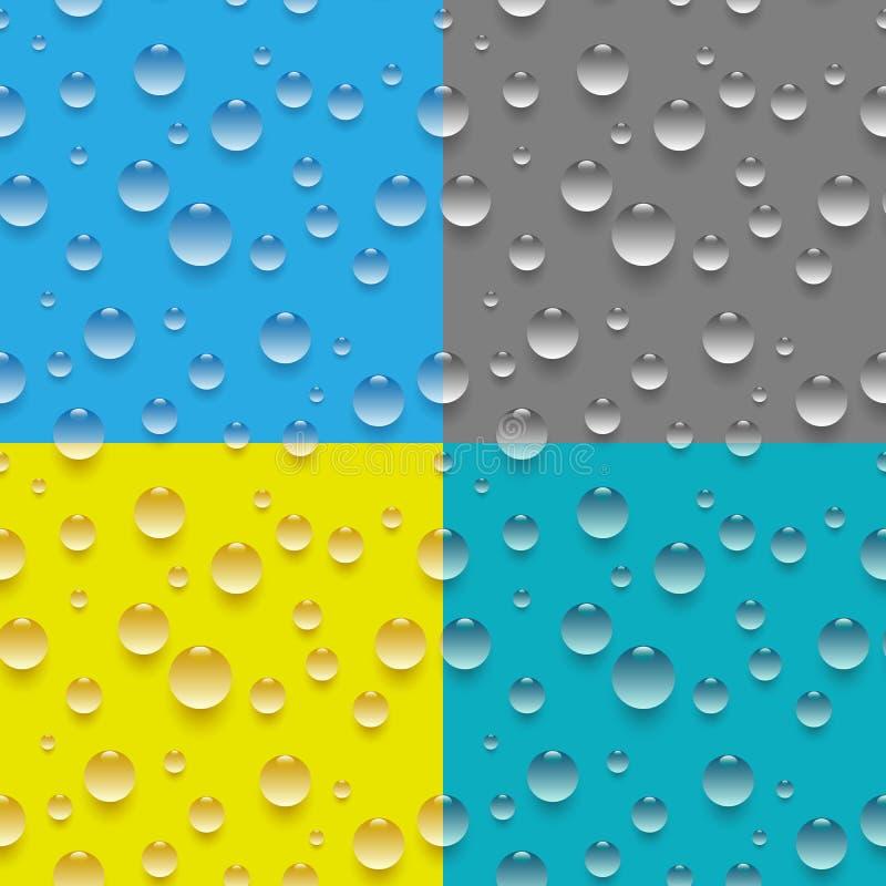 Modelo inconsútil del descenso del agua ilustración del vector