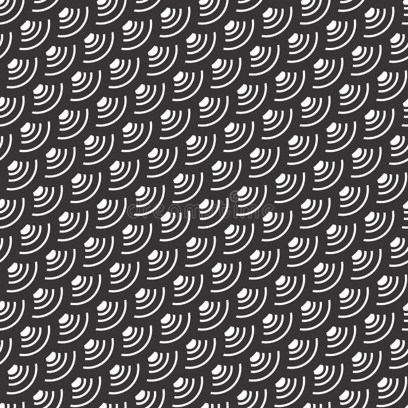 Modelo inconsútil del diseño del adorno abstracto ilustración del vector