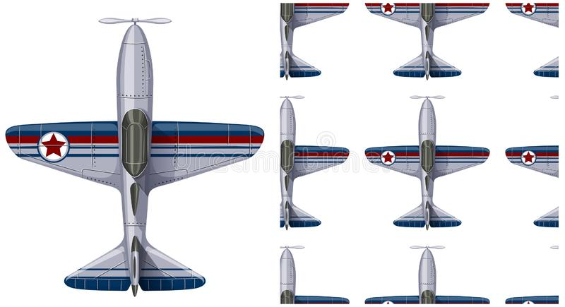 Modelo inconsútil del diseño aislado en blanco ilustración del vector