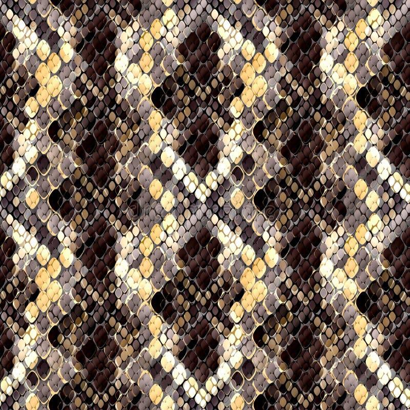 Modelo inconsútil del diseño salvaje Fondo de la piel con efecto de la acuarela Modelo elegante para las materias textiles, diseñ libre illustration