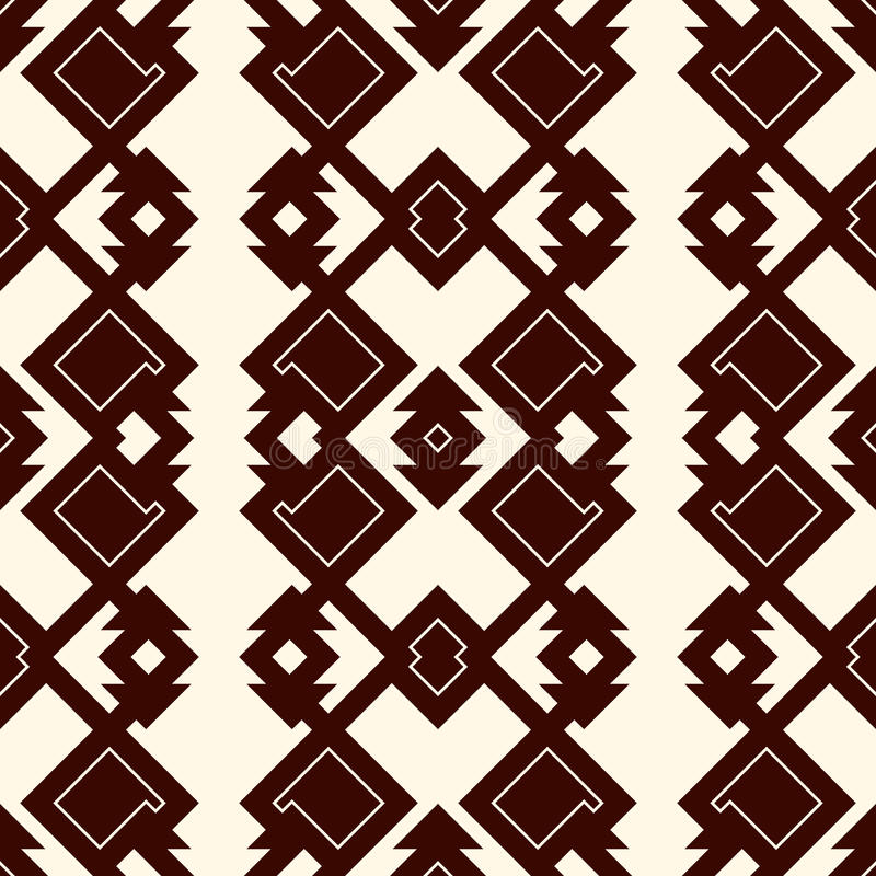 Modelo inconsútil del esquema étnico del estilo Fondo abstracto de los nativos americanos Adorno tribal Papel digital elegante de stock de ilustración