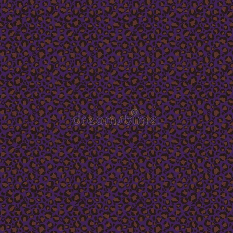 Modelo inconsútil del estampado leopardo enrrollado stock de ilustración