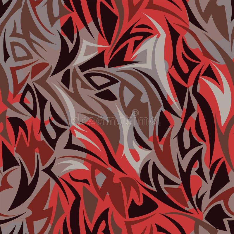 Modelo inconsútil del estilo maorí de múltiples capas ilustración del vector