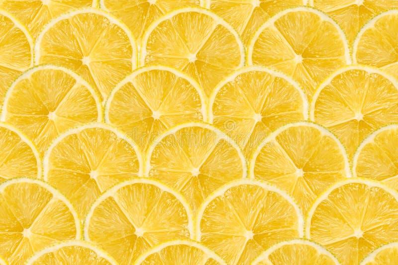 Modelo inconsútil del extracto de la rebanada del limón imagen de archivo libre de regalías