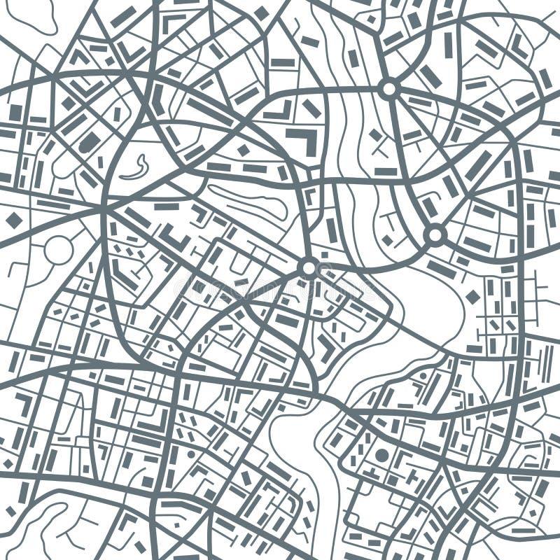 Modelo inconsútil del extracto del mapa de la ciudad - ejemplo stock de ilustración